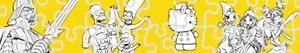 Ζωγραφική Παζλ Χαρακτήρες κινουμένων σχεδίων ζωγραφιές